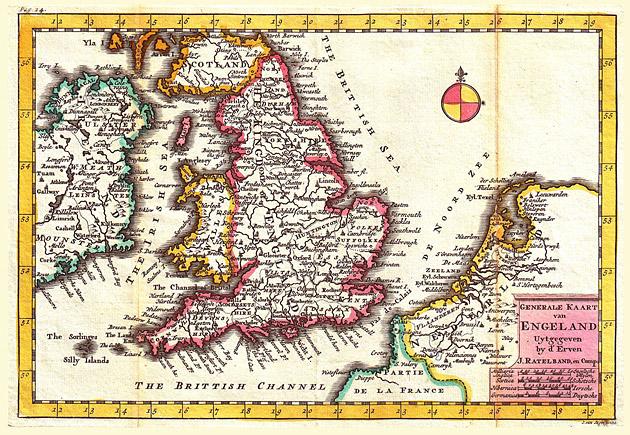 Engeland 1734 De la Feuille