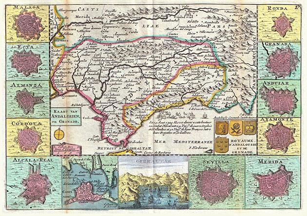 Andalusië Spanje 1747 De la Feuille