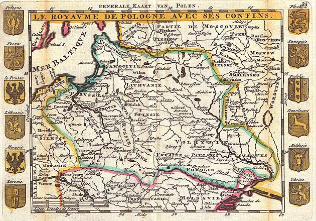 Generale kaart van Polen 1747 De la Feuille