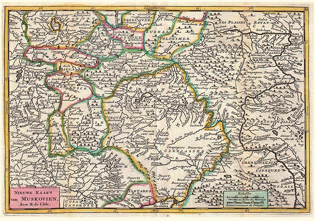 Rusland omgeving Moskou 1747 De la Feuille