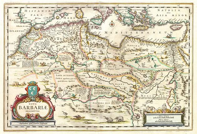 Noord Afrika (Barbariae) 1650 Janssonius