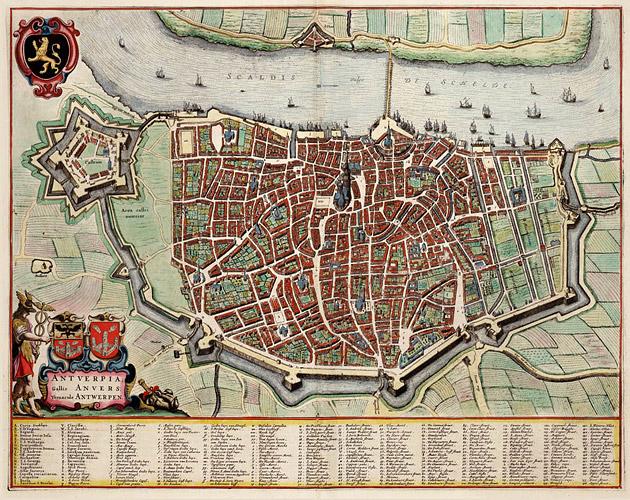 Antwerpen 1649 Blaeu