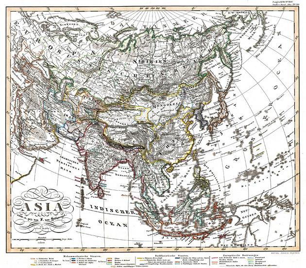 Azië 1853 von Stülpnagel