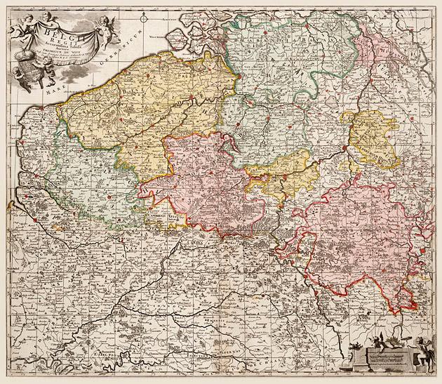 Belgii 1740 De Witt / Ottens