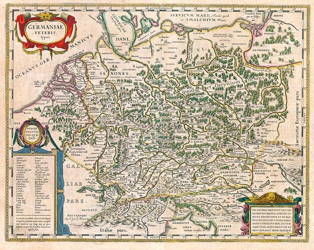 Germaniae 1645 Willem Blaeu