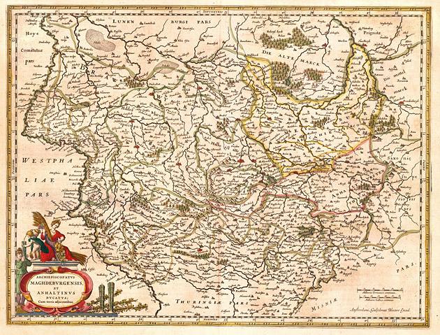 Maghdeburgensis (Midden Duitsland) 1645 Willem Blaeu