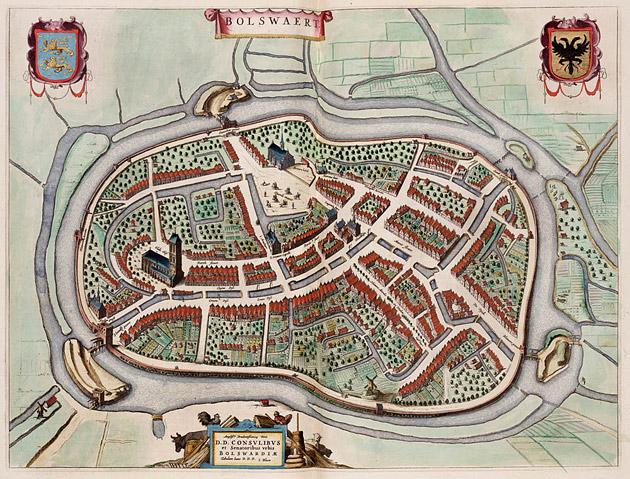 Bolsward 1649 Blaeu