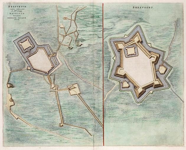 Bredevoort 1649 Blaeu belegering 1597