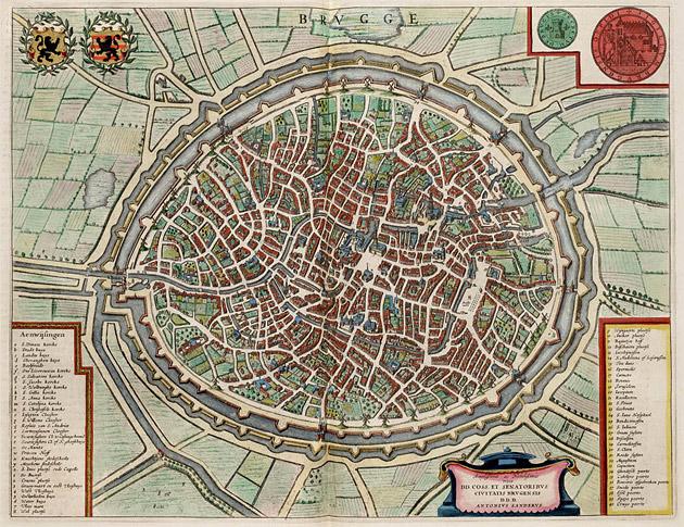 Brugge 1649 Blaeu