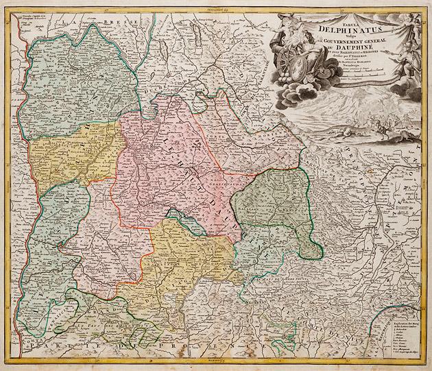 Dauphine (Frankrijk) 1740 Homann / Ottens