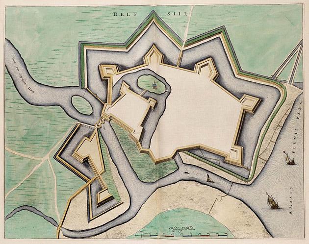 Delfzijl 1649 Blaeu