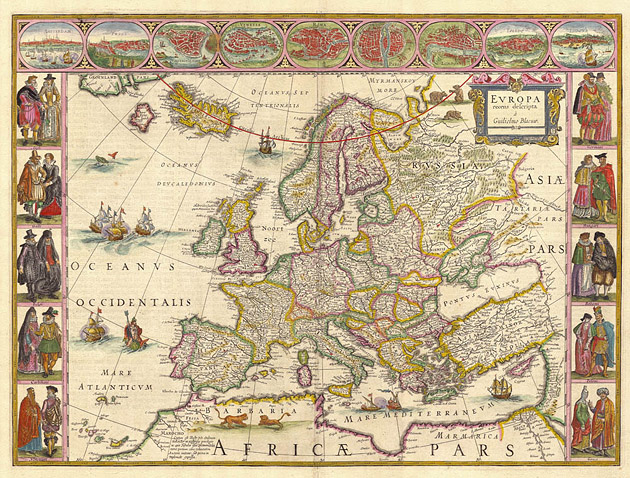 Europa 1649 WillemBlaeu