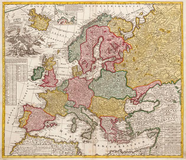Europa 1735 Visscher / Ottens