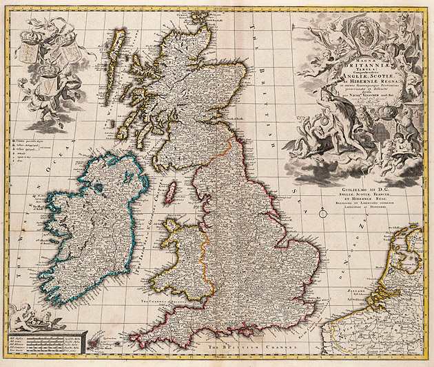 Groot Britannie + Ierland 1740 Visscher Ottens