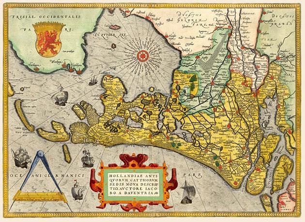 Holland 1584 Ortelius