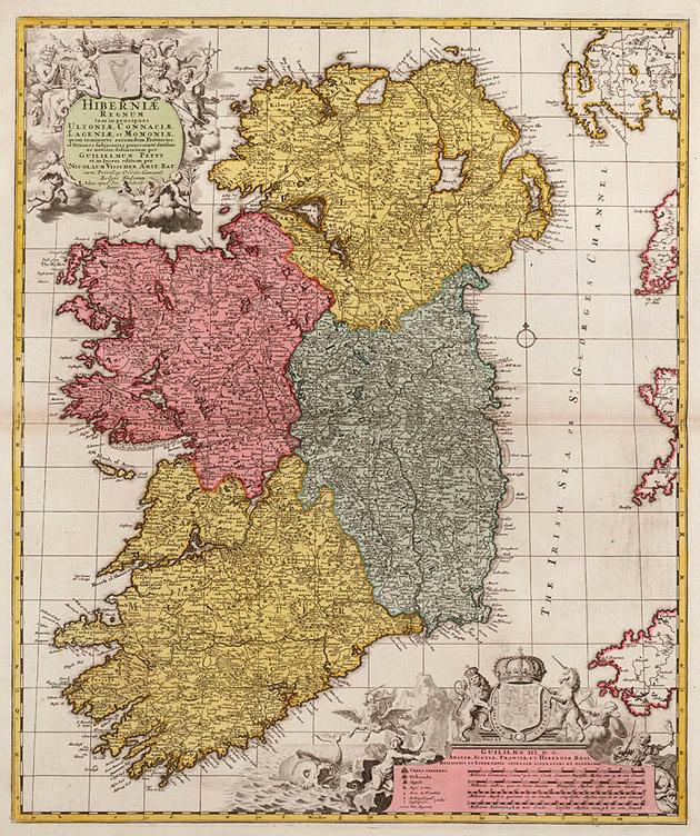 Ierland 1740 Visscher Ottens