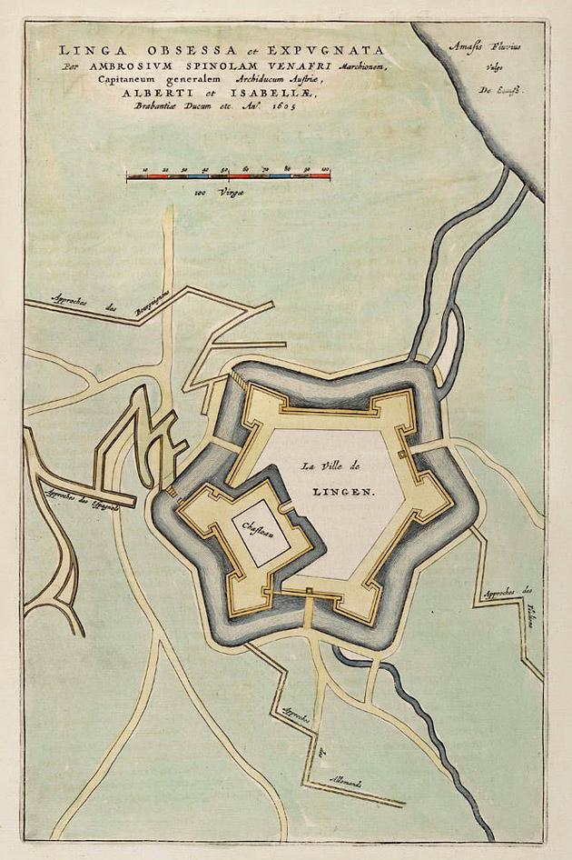 Lingen 1649 Blaeu belegering 1605
