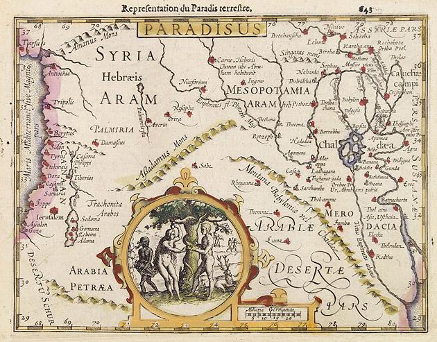 Paradijs Mesopotamia 1607 Mercator Hondius