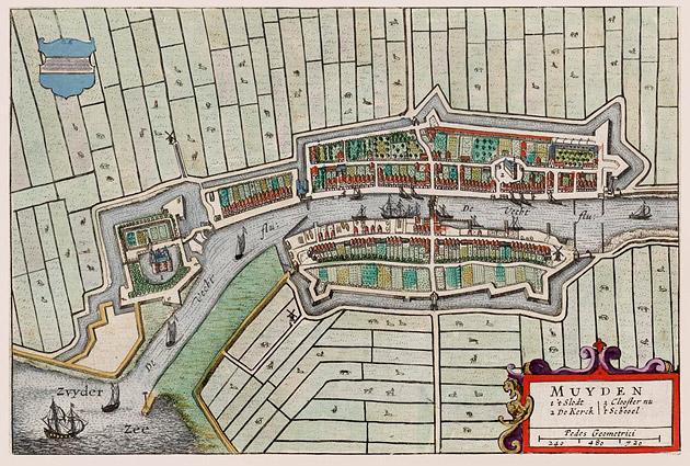 Muiden 1649 Blaeu