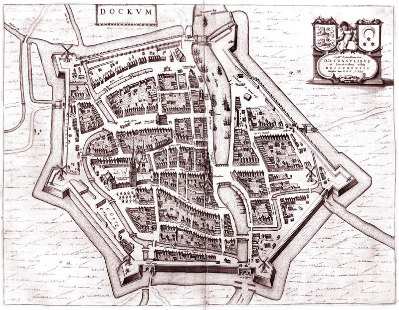 Dokkum 1649 Blaeu