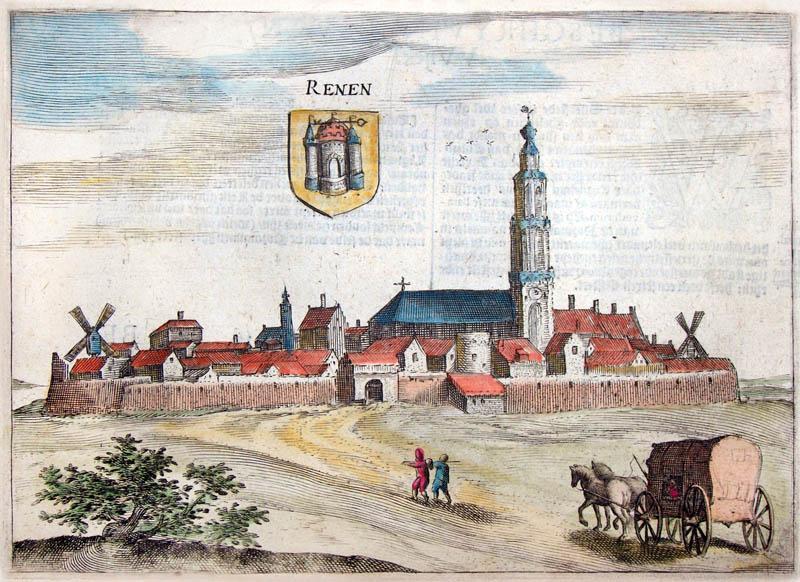 Gezicht op Rhenen 1613 Guiccardini