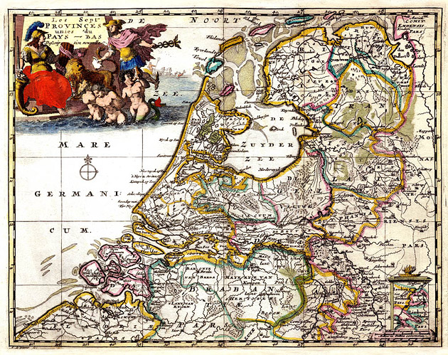 Nederland 1700 Zeven Provinciën Sanson
