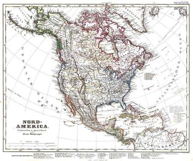 Noord Amerika 1858 von Stuelpnagel