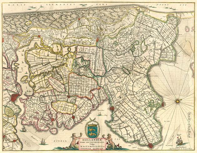 Hollandia West Friesland 1645 Blaeu