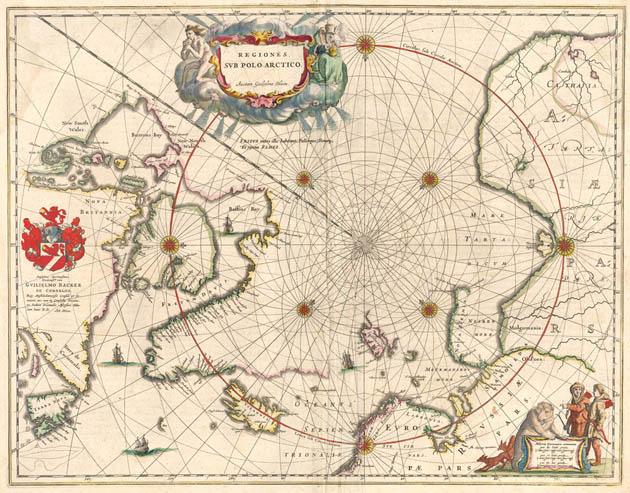 Noordpool 1645 Blaeu