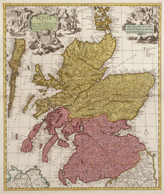 Scotiae (Schotland) 1740 Visscher - Ottens