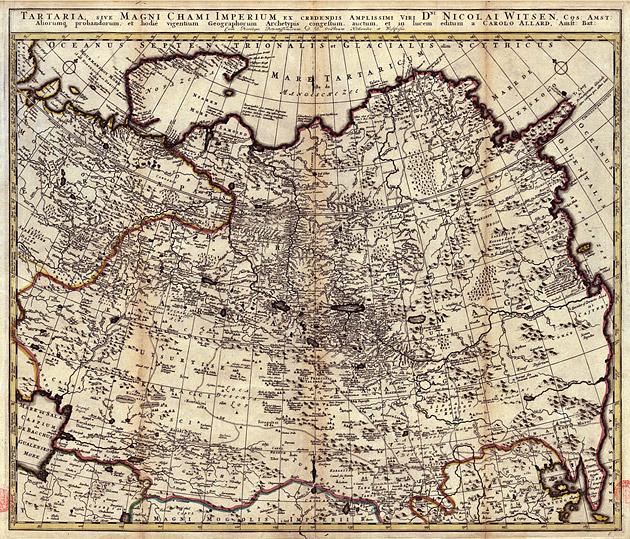 Siberië Tartaria 1687 Witsen