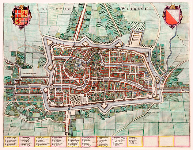 Utrecht 1649 Blaeu