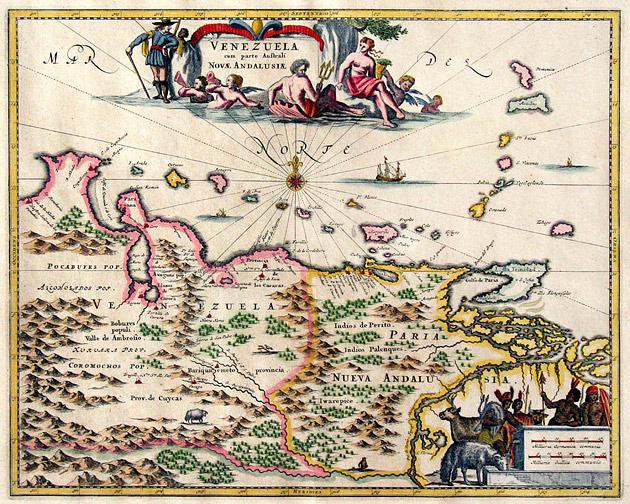 Venezuela + Antillen 1671 Arnoldus Montanus