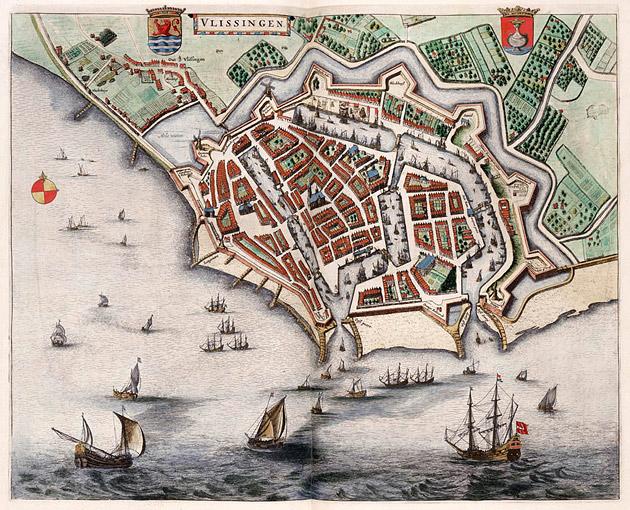 Vlissingen 1649 Blaeu