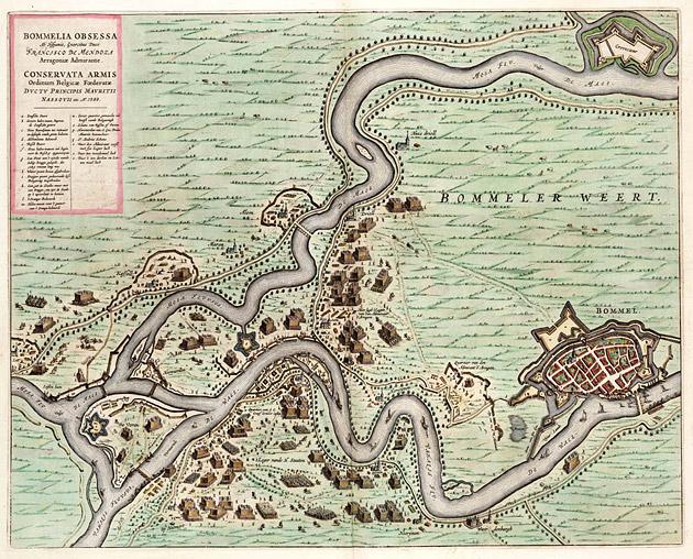 Zaltbommel 1649 Blaeu belegering 1599